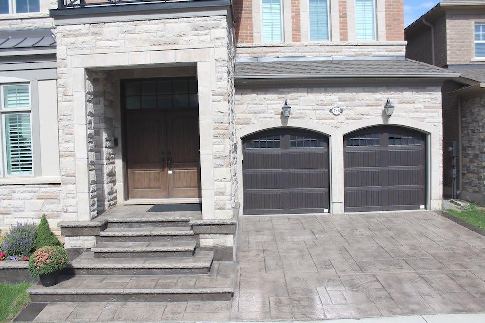 Stamped driveway beigecream